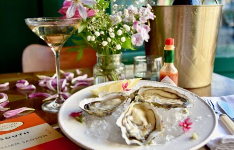 Butley Creek Oysters and a glass of Bereche champagne