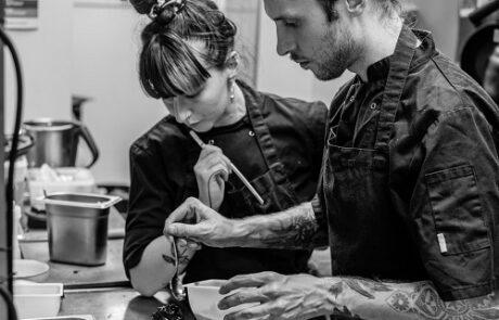 Chefs Maciek and Monica